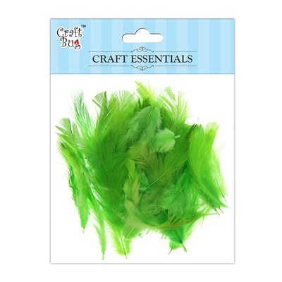 Feathers 90pcs - Light Green