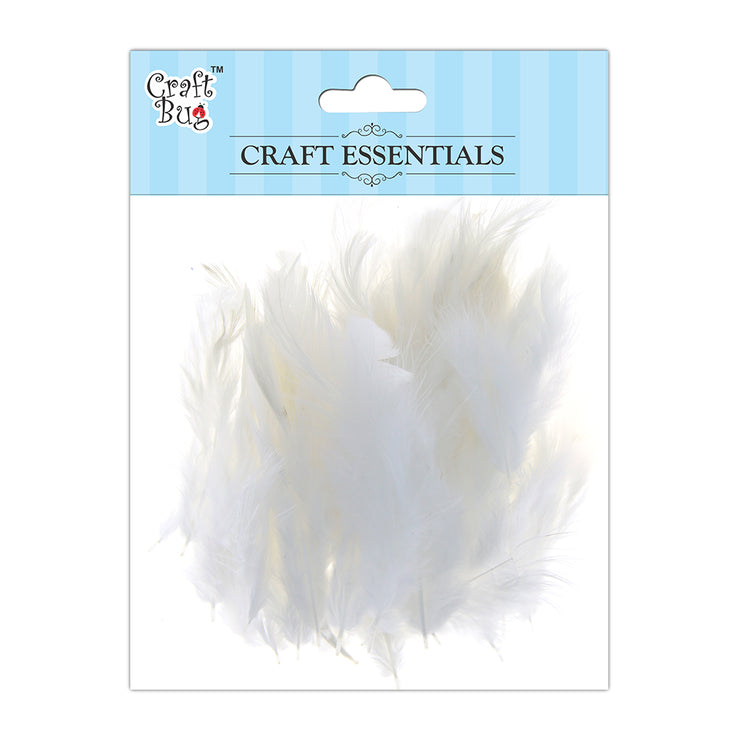 Feathers 90pcs - White