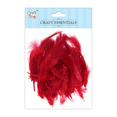 Feathers 90pcs - Red