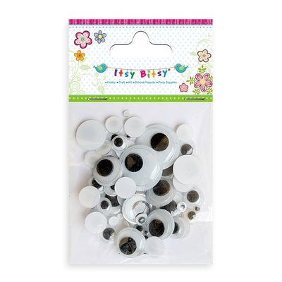 Googly Eyes - Assorted 100pcs