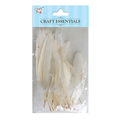 Red Indian Feathers 25pcs - White