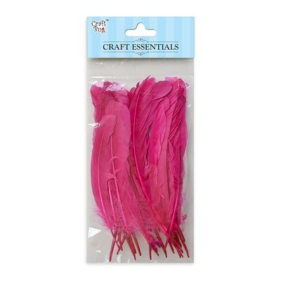 Red Indian Feathers 25pcs - Hot Pink