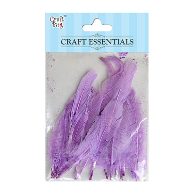 Red Indian Feathers 25pcs - Lavender