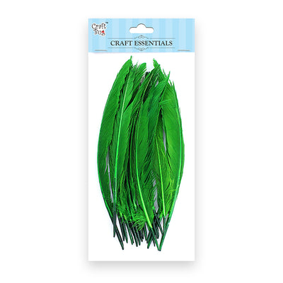 Red Indian Feathers 25pcs - Parrot Green