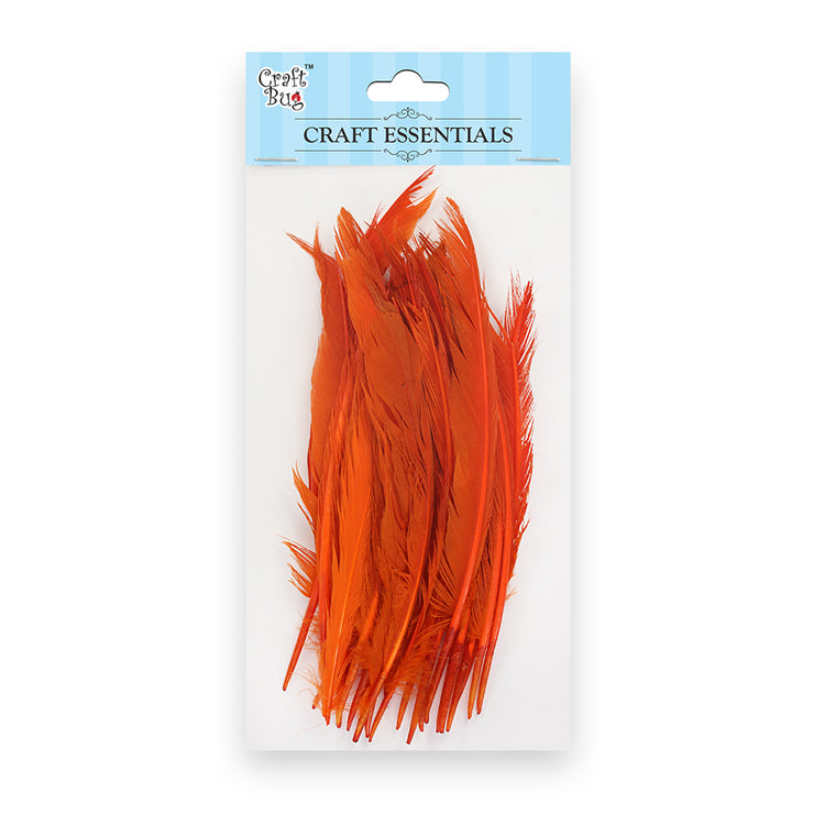 Red Indian Feathers 25pcs - Orange