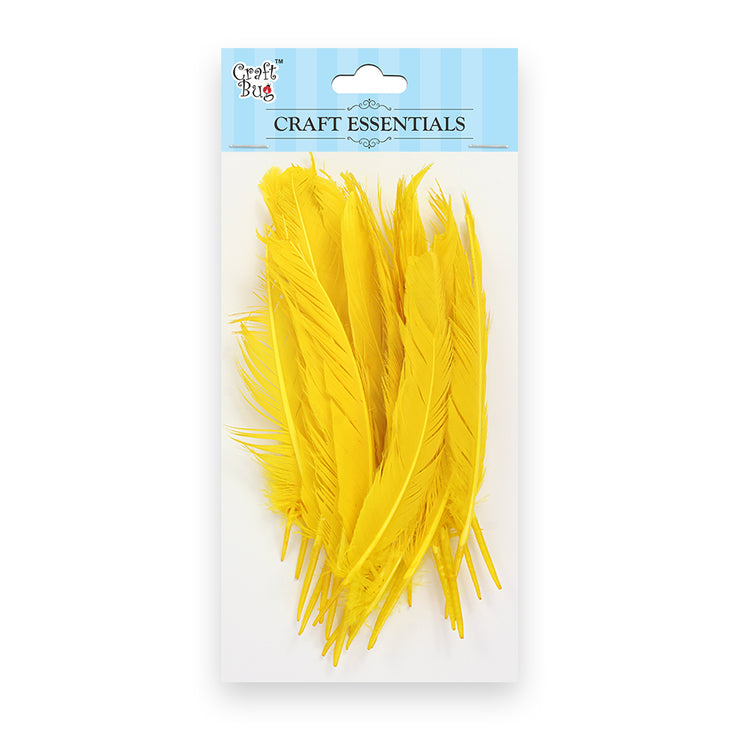 Red Indian Feathers 25pcs - Yellow