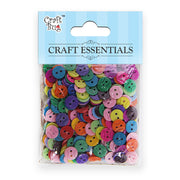 Buttons 50 gm - Assorted Colours