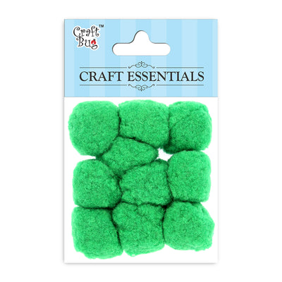 Jumbo Pompom - Parrot Green 30mm, 10pcs