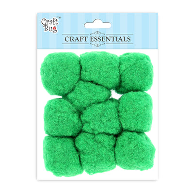Jumbo Pompom - Parrot Green 40mm, 10pcs