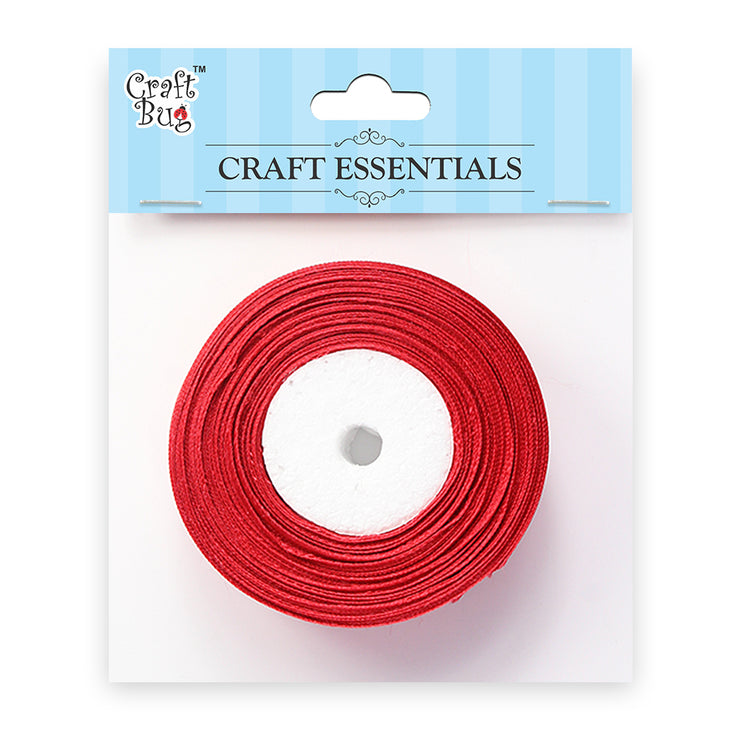 Satin Ribbons - Red 25mm, 15mt