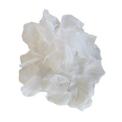 Fabric Flower Petal 30pcs- White