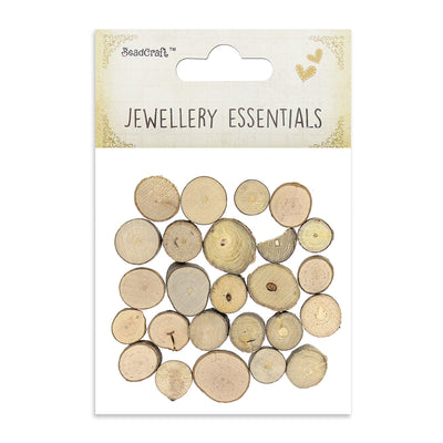 Unfinished Wooden Discs- Natural 24pcs