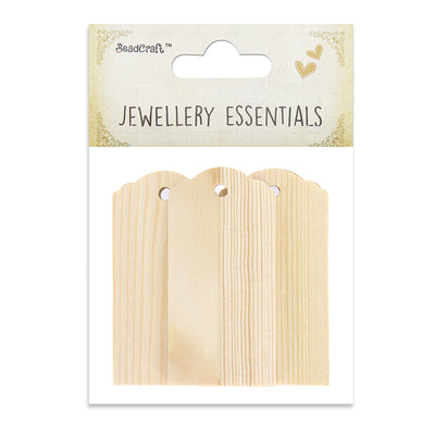 Wooden Tags- Natural 5pcs
