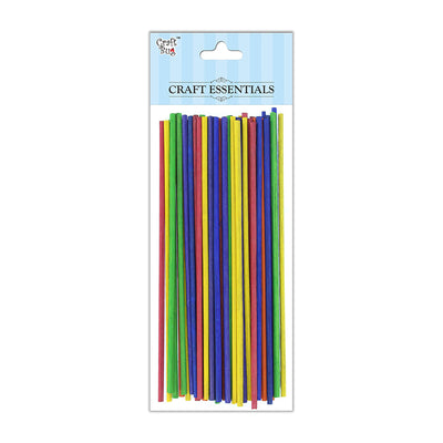 Round Bamboo Sticks - Assorted, 3mm, 6inch, 50gm