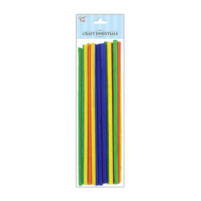 Round Bamboo Sticks - Assorted, 5mm, 12inch, 50gm
