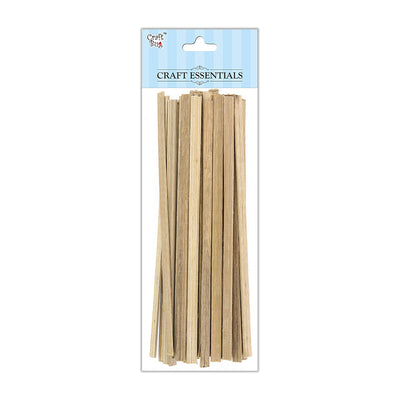 Flat Bamboo Sticks - Natural, 6x2mm, 6inch, 50g