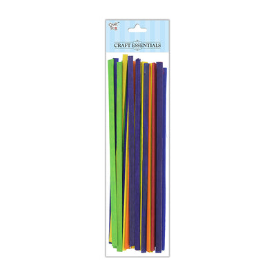 Flat Bamboo Sticks - Assorted, 6x2mm, 12inch, 50g