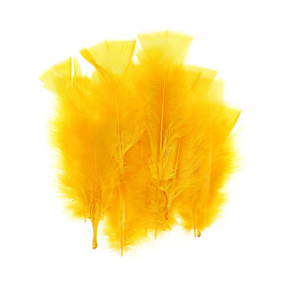 Fancy Feathers - Yellow, 20pc