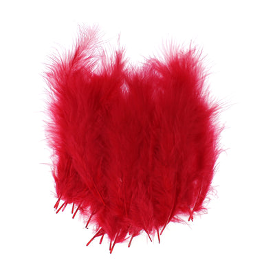 Feathers - Cherry Red, 20pc