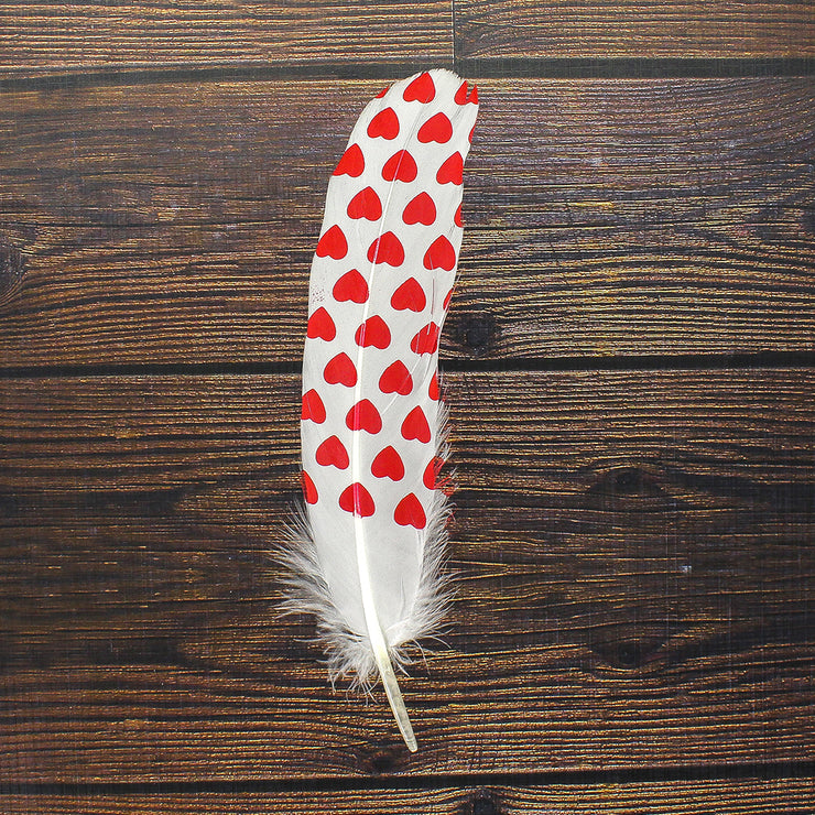 Printed Feathers - Multiple Hearts, 6pc