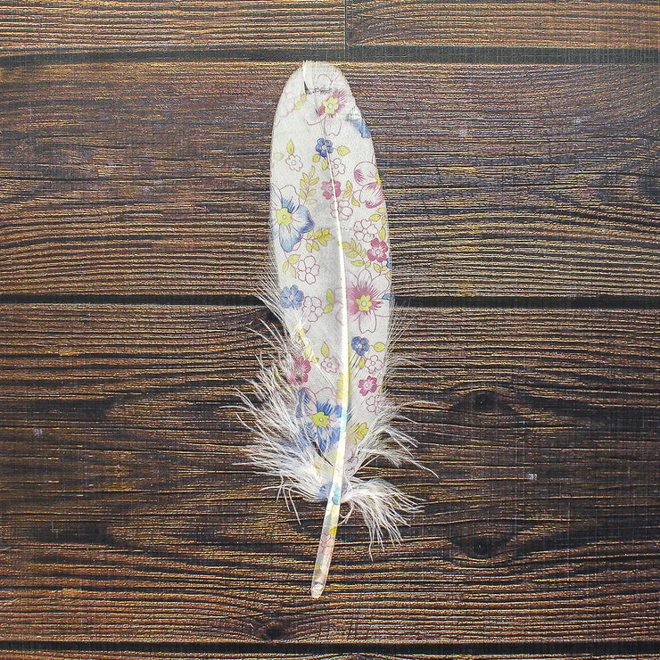 Printed Feathers - Beautiful Blooms, 10pc