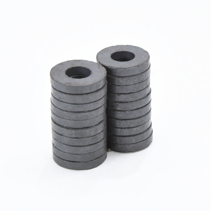 Ferrite Ring Magnet - 17.5x7.5x3mm, 20pc