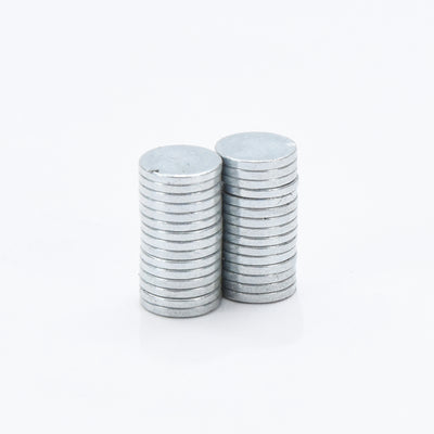 Round Disc Neodymium  Magnet - Silver, 6x1mm, 30pc