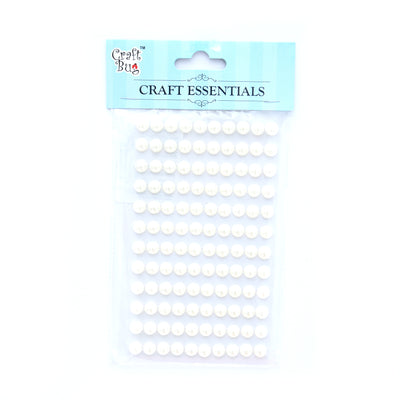Half Pearl - White, 8Mm, 12Strips, 120Pcs, 1Pk