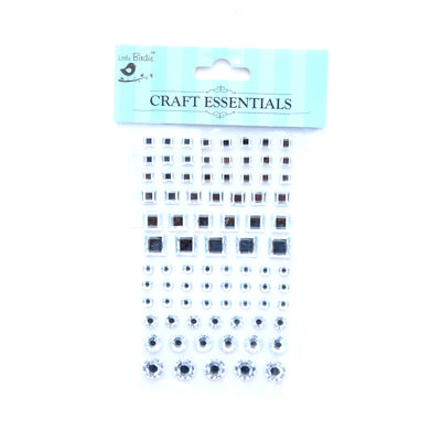 Crystal Stone - Round And Square, 6/8/10/12Mm, 12Strips, 60Pcs, 1Pk