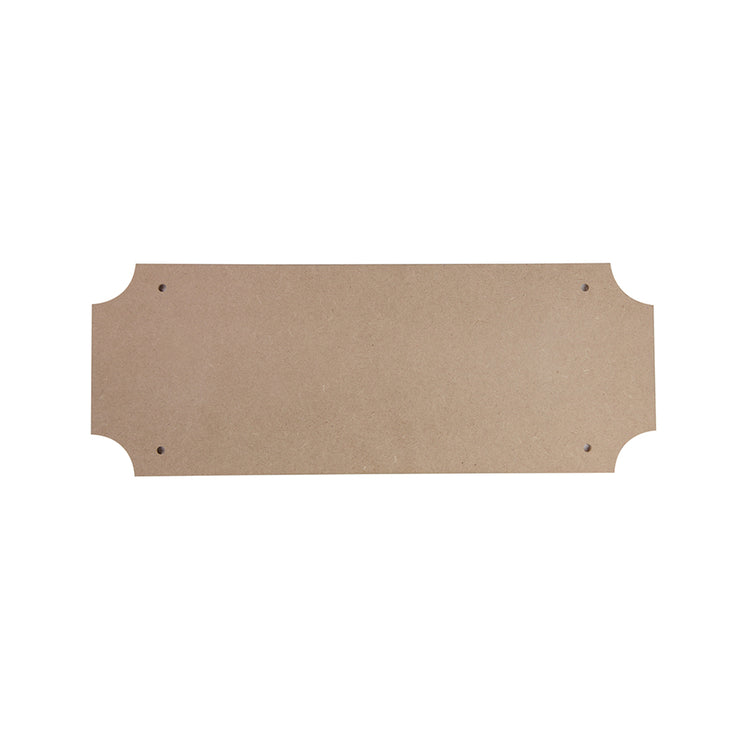 Fancy MDF Plaque 6 x 15.5 Inch