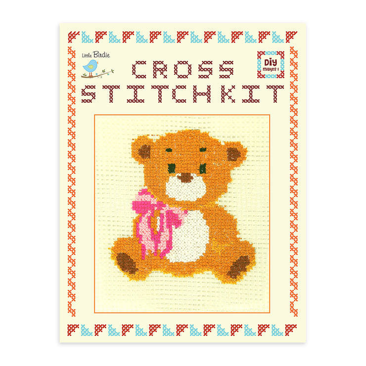 Cross Stitch Kit- Teddy