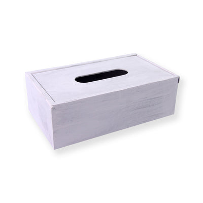 White Washed Tissue Box