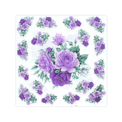 Decoupage Napkin 12x12 inch- Purple Rose