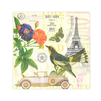 Decoupage Napkin 12x12 inch- Spring In Paris