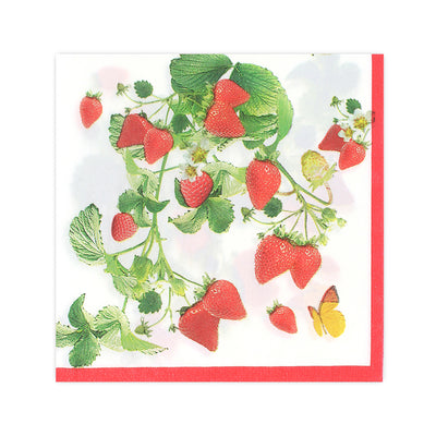 Decoupage Napkin 12x12 inch- Sweet Strawberry