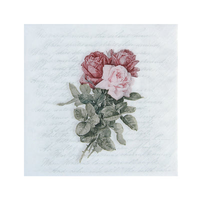 Decoupage Napkin 12x12 inch- Ravishing Rose