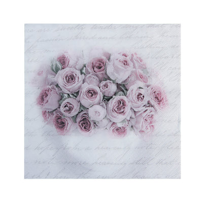 Decoupage Napkin 12x12 inch- Blissful Roses