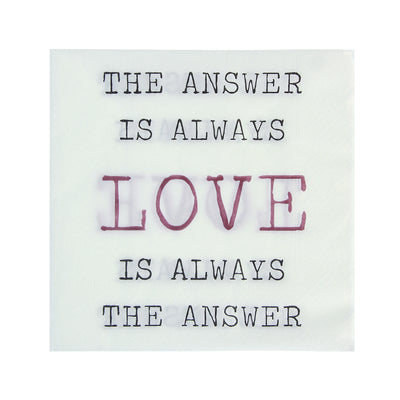 Decoupage Napkin 12x12 inch- Love Quote