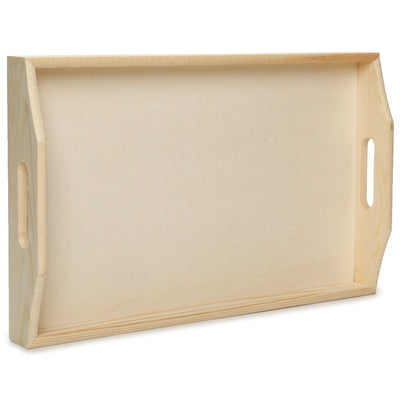 Wooden Serving Tray- Small, L20xW32xD5cm, 1 Pc