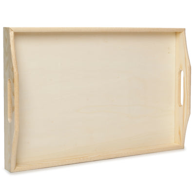Wooden Serving Tray- L23XW35XD5cm, 1 Pc