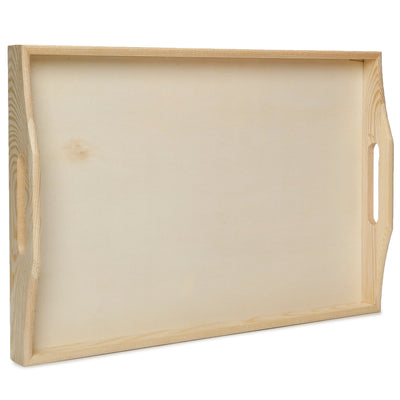 Wooden Serving Tray - L26XW38XD5cm, 1 Pc