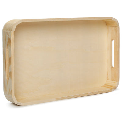 Wooden Rectangular Serving Tray -L23.5XW35.5X4.5cm, 1 Pc