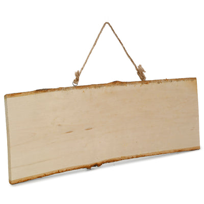 Natural Wood Rectangular Hanging Board L10XW25cm, 1 Pc