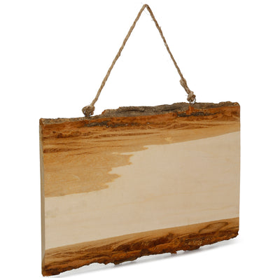 Natural Wood Rectangular Hanging Board L12XW36cm, 1 Pc