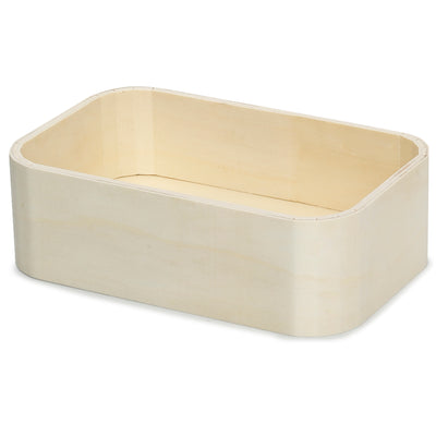 Wooden Tray - Rounded Edges, 19x12.5x6cm, 1 Pc