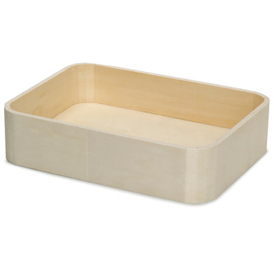 Wooden Tray - Rounded Edges, 25x18.5x6cm, 1 Pc