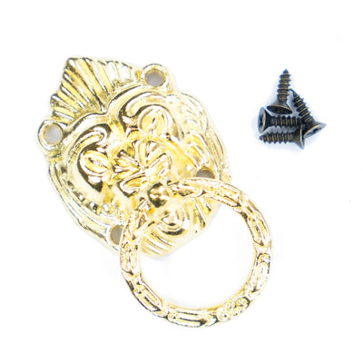 Ring handle with Screws- Royal, Gold, 1pc