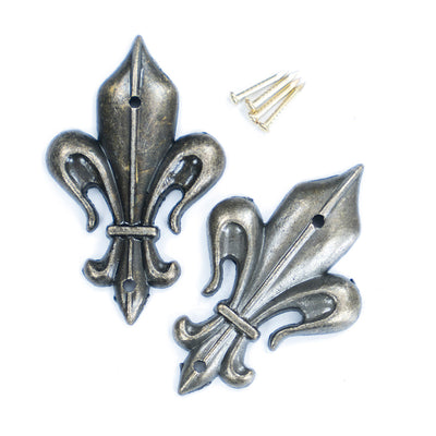 Metal Decorative Flourish - Fleur-de-lis, 2pc