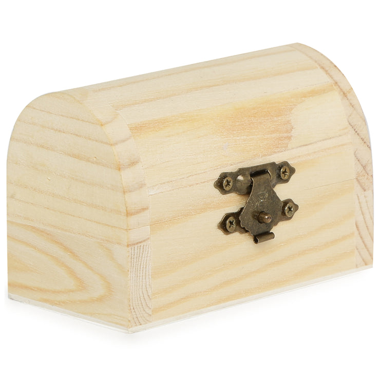 Wooden Treasure Chest- 9X5cm, 1pc