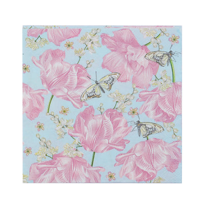 Decoupage Napkins 10 X 10 Inch- Butterfly Blossom, 3 Ply, 1Pc